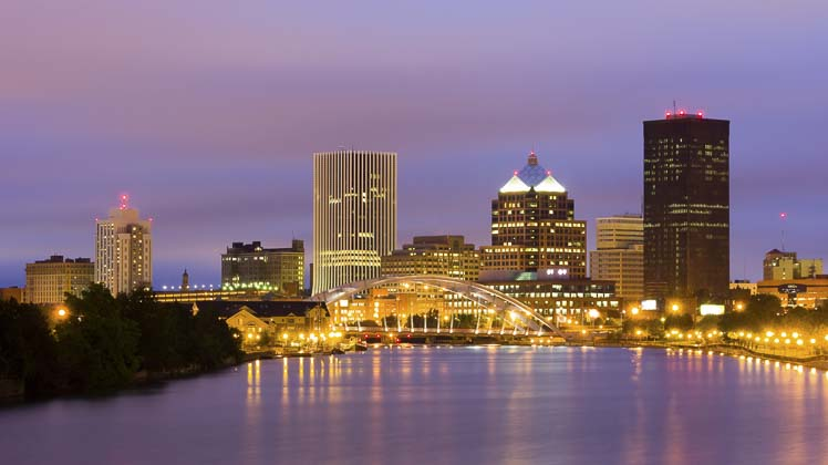Photo of Rochester at night